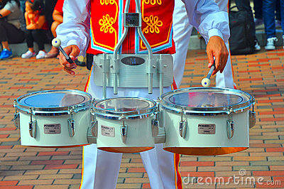 Disneyland trommelspeler Redactionele Afbeelding