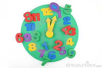 Disorder of time on toy clock