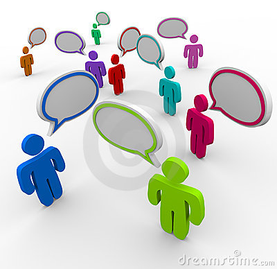 Disorganized Communication - People Speaking