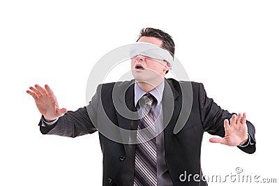 Disoriented businessman