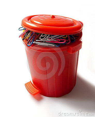 Dispenser of red clips