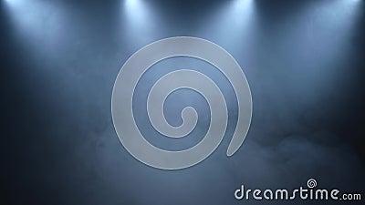 Dispersion de fumée sur un fond noir avec de basses garnitures d'éclairage banque de vidéos