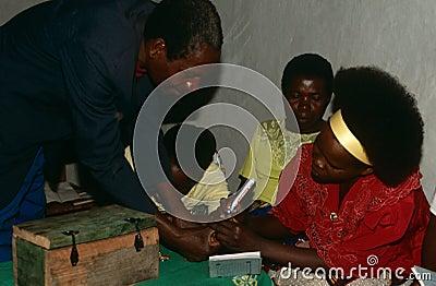Displaced people in Burundi. Editorial Photo