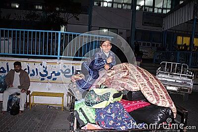 Displaced people at un schools Editorial Stock Image