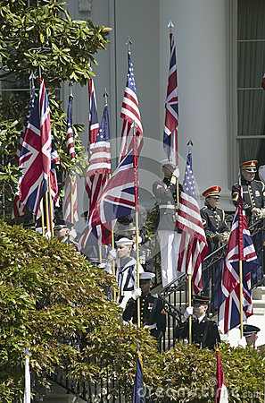 Display of British Union Jack Flag Editorial Photography