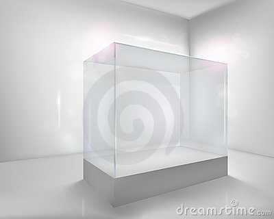 Display case. Vector illustration.