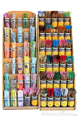 Display of Incense Sticks