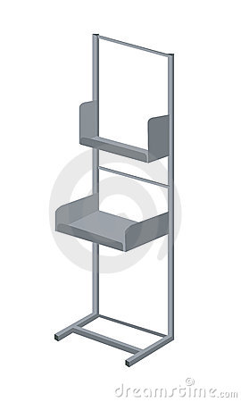 Display rack exhibitor vector