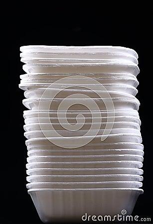 Free Disposable Bowls Royalty Free Stock Image - 17567476