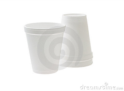 Disposable styrofoam cups