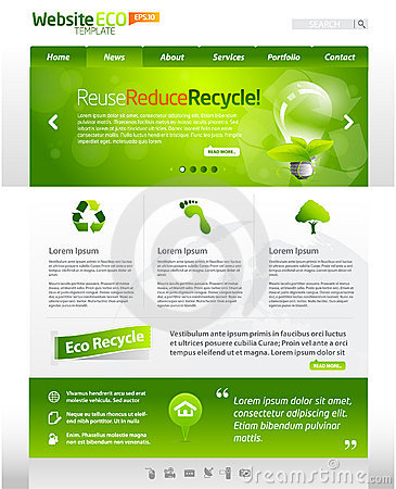 Disposição verde do molde do Web do eco
