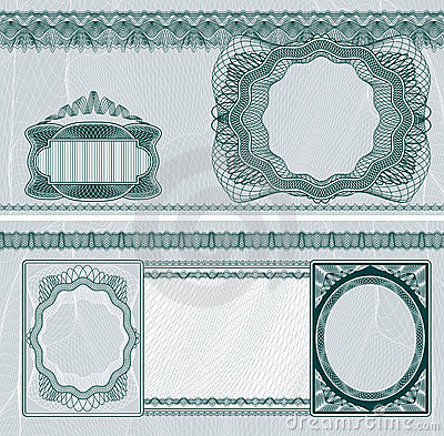 Disposición en blanco del billete de banco