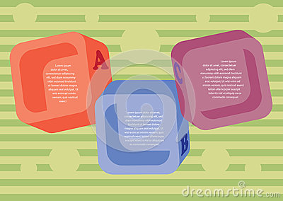 Disposição colorida dos quadrados.
