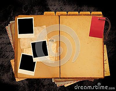 Disposição do Web site do livro do vintage
