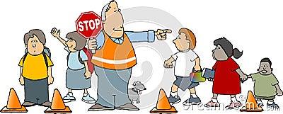 Dispositif protecteur de croisement d école