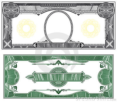 Disposition blanc de billet de banque