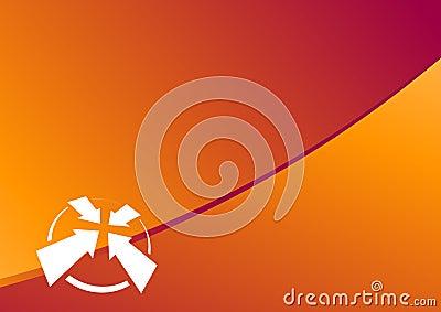 Disposizione arancione di percorso