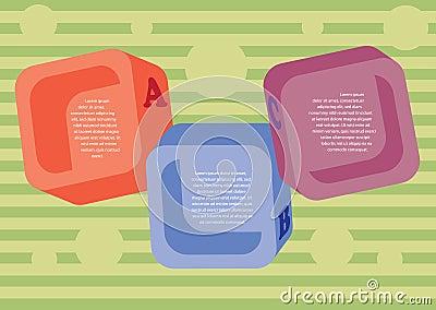 Disposizione colorata dei quadrati.