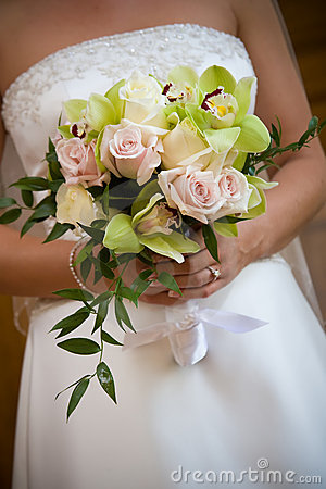Disposizione di fiore del mazzo di cerimonia nuziale
