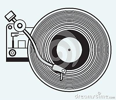Disque vinyle de tourne disque photographie stock image 37858922 - Lecteur disque vinyl ...