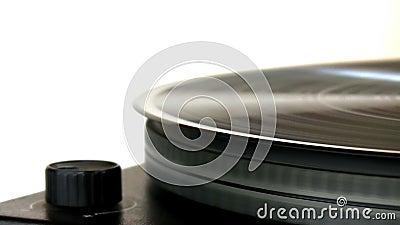 Disque vinyle sur la plaque tournante banque de vidéos