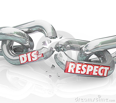 "respect vs disrespect Research and theory on respect and disrespect: catching up with the public and practitioners david w shwalb, barbara j shwalb respect has been called ""the single."