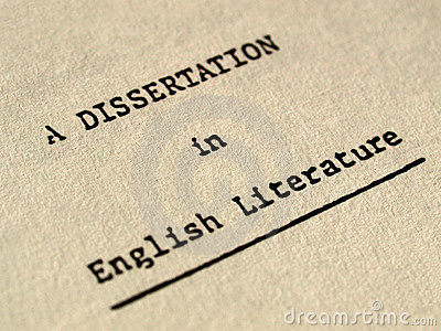A dissertation in English literature