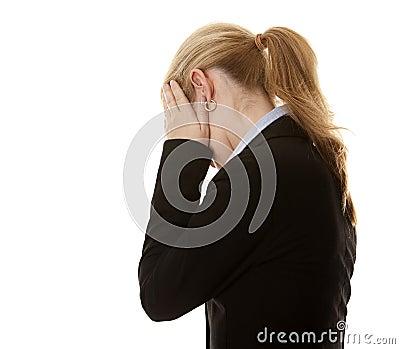 Dissimulation de femme d affaires