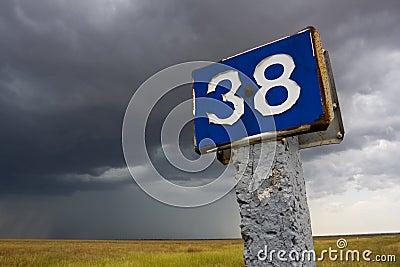 Distance mark