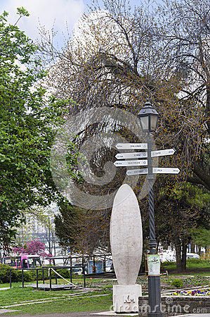 Distance Marker in Budapest Hungary