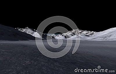 Distant dark hills