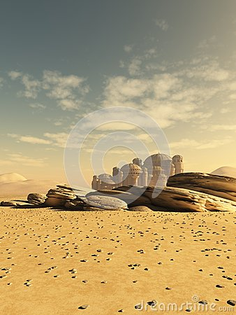 Distant Desert Town