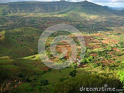 Distant Indian village
