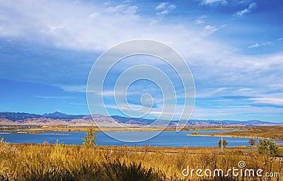 Distant Lake on the Prairie