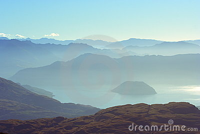 Distant Mountains And Lake