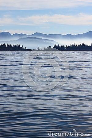 Distant shoreline