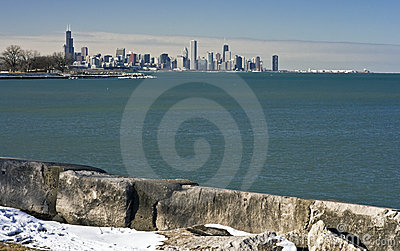 Distant View of Downtown Chicago
