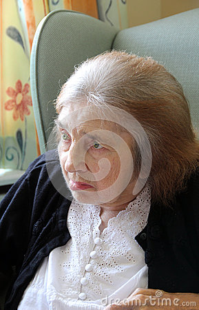 Distinguished elderly lady