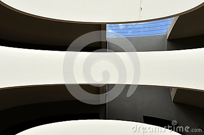 Distorted building facade