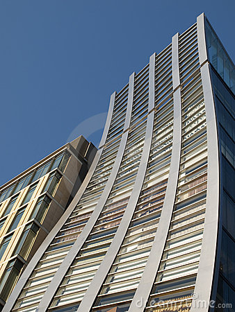 Distorted building in Tokyo, Japan