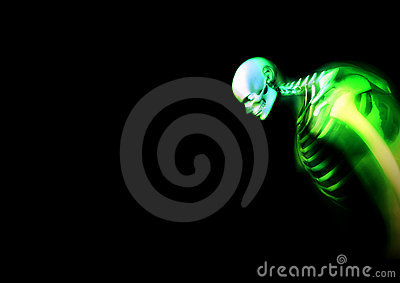 Distorted Green Skeleton 2