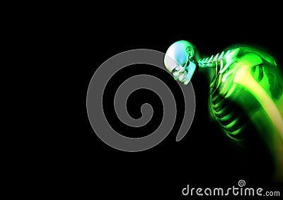 Distorted Green Skeleton 2