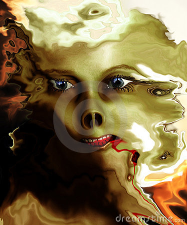 Distorted Monster Face