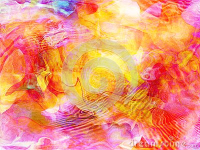 Distorted psychedelic abstract