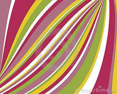 Distorted retro colorful stripes background