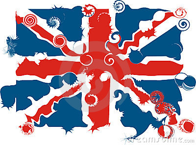 Distorted Union Jack - vector illustration