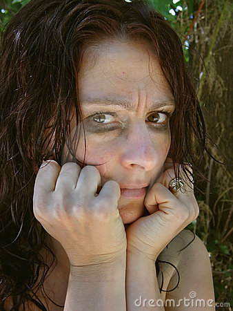 Distraught woman 1