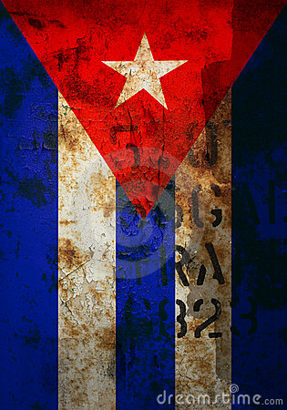 Distressed cuban flag