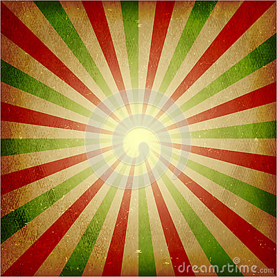 Distressed green red light burst background