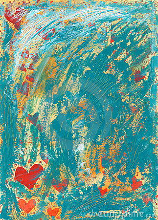 Distressed Hearts Background